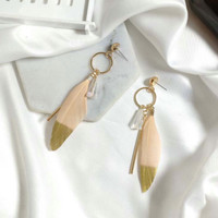 Anting Bulu Hipster Indie Feather Boho Style Bohemian Earrings 02Ff11R