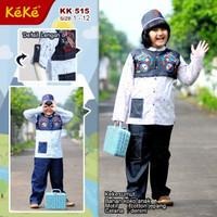 Baju Koko Anak Keke KK 515 setelan anak laki laki Katun KS01