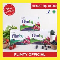 FLIMTY Paket Hemat SILVER (2 box) - Fiber Pelangsing Badan All in One - Blackcurrant