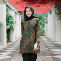 Baju Atasan Blouse Batik Wanita Premium Couple Sarimbit Batik TE007 - S