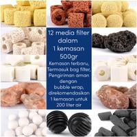 Media Filter Akuarium Aquablue Rumah Bakteri Penjernih Air 12 in 1