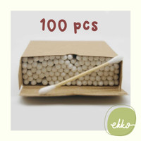 100pcs Bamboo Cotton Bud / Cotton Swab Bambu