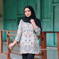 Tunik Dress Batik Premium Wanita Baju Atasan Wanita Blouse ModernTE006 - S