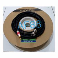 Kabel mic xlr female to Jack RCA 10mtr fullkabel canare