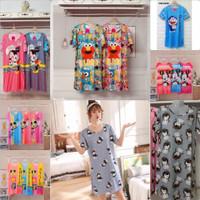 baju tidur daster wanita import motif Mickey mouse