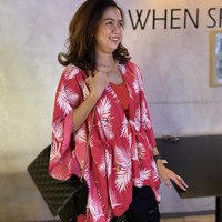Outer Serut Rempel AllSize Baju Pantai / Luaran Cardigan Kimono Renang