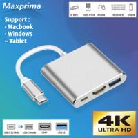 Kabel Converter USB Type C To HDMI Type C Macbook Pro Air iPad Windows