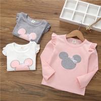 Kaos Baju Lengan Panjang Anak Perempuan Minnie Import Cotton 1-6 Tahun
