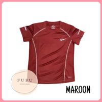 Baju Kaos Sport Wanita Dryfit Senam Lari Gym Polos Lengan Pendek NK