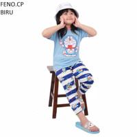 Baju Setelan Anak laki laki perempuan feno Lengan Pendek piyama harian