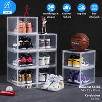 Kotak Sepatu Air Jordan Box Sneakers Display Boks Sepatu Nike Yeezy - Front XL Putih