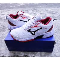 Sepatu volly Mizuno Cyclone2 white red /Sepatu Volly Pria Mizuno Murah