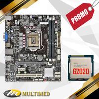 Promo Paketan Murah Motherboard H61 LGA 1155 DDR3 + Processor G2020