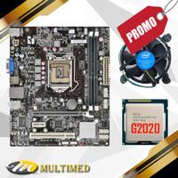 Promo Paketan Motherboard H61 LGA 1155 DDR3 + Processor G2020 + FAN
