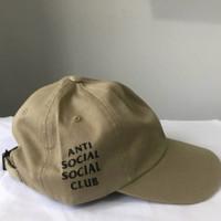 Topi Anti Social Social Club Khaki Original ( ASSC CAP ORIGINAL 100%)