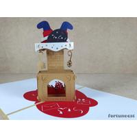 Kartu Natal 3D 4D Pop Up Kartu Ucapan Merry Christmas
