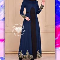 Baju india Maxy Deandra navy XL gamis pesta terbaru murah dur at