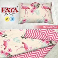 FATA - Balmut / Bantal Selimut Flamingo Pink