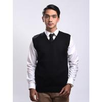 Sweater Rajut Pria Gomuda - Vest/Rompi Hitam - Hitam, S