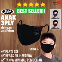 Masker Rider Anak 3Ply Earloop Non Medis Lapis Kain Anti Virus 3 Ply