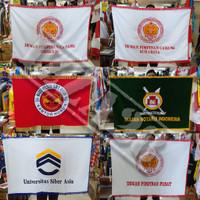 bendera pataka bahan beludru ukuran 90 cm x 135 cm custom