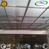 Kanopi stainles steel Solarflat / Solid Polycarbonate 5 MM depok