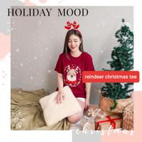 BM - Kaos Reindeer Santa Baju Natal Wanita Christmas Edition KLA