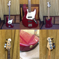 SQUIER BASS (RED CHERRY 2003)