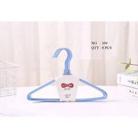 Gantungan Baju / Hanger Kawat Lapis Plastik 109 (anak) - Isi 8 Pcs