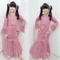 Baju Gamis Anak Perempuan Cewek Kondangan Brukat Premium Umur 3-12 th
