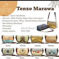 Tas Selempang Wanita Mini Bag Kanvas Tenzo Series Ori Marawa