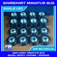 ban karet velg mb miniatur bus truck diameter 5.8cm skala 1:18-1:20