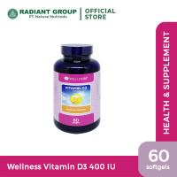 Wellness Vitamin D3 400 I.U 60 Softgels