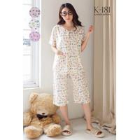 Baju Tidur Piyama Katun Jepang Greet K-181