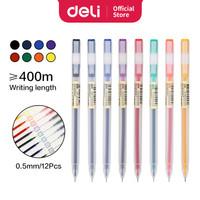 Deli Color Gel Pen Pulpen Gel Warna Needle Tip 0.5mm 1Pcs 8 warna A119