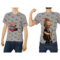 Baju Kaos Tshirt Pria Mie Instan Indomie Seleraku 01 Costum - Lengan Pendek, S