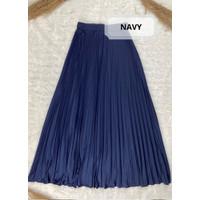 Rok Plisket - Rok Bahan Premium - Navy