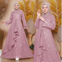 Baju Gamis Wanita Muslim Brukat Import Terbaru Size M-L-XL-XXL Murah