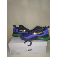 Sepatu Nike AirMax 270 React Black University Gold Deep Royal Blue Ori