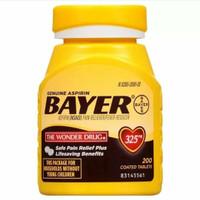 BAYER Genuine 325mg Pain Reliever & Fever Reducer Tablets - Aspirin