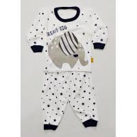 baju tidur bayi piyama katun anak cowok dream big S M L 100% SNI - Biru, M