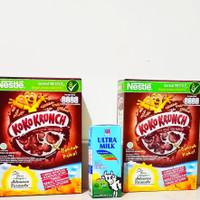 paket breakfast : 2 kotak koko crunch 170gr, 1 kotak susu ultra 250ml