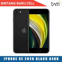 IPHONE SE 2020 64GB BLACK Garansi resmi TAM