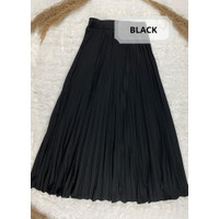 Rok Plisket - Rok Bahan Premium - Black