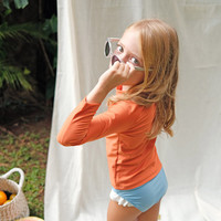 Unisex Long Sleeve Rash Guard | Baju Renang Anak UV Lengan Panjang