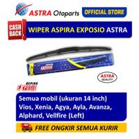 Wiper Blade Hybrid Graphite ASPIRA EXPOSIO Agya,Avanza ukuran 14 inch