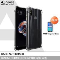 Anti Crack Xiaomi Redmi Note 5 Pro   Softcase Anti Bentur + FREE TG