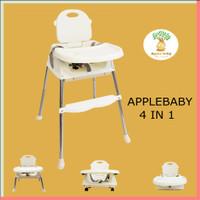 High Chair 4 IN 1 Premium Kursi Makan Bayi Meja Makan Apple Baby