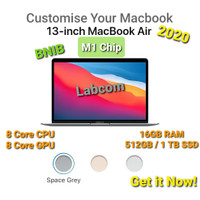 New Macbook Air 13 2020 M1 Chip CTO 16GB RAM - 16GB/512GB