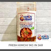 PROMO Fresh Kimchi Korea + box plastik 1kg (bs pilih varian) Halal